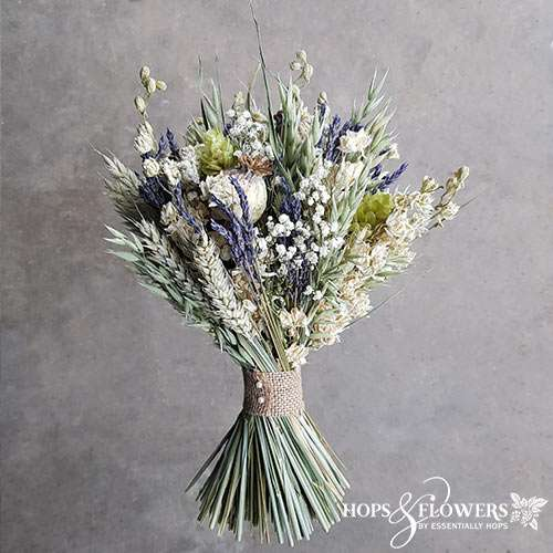 natural dried flowers wedding bridal bouquet