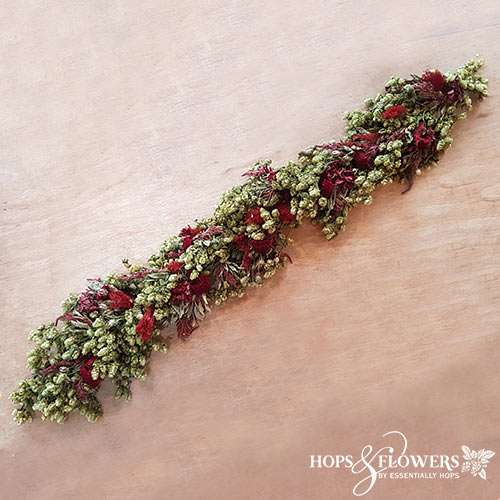 Decorated Hop Garland Red
