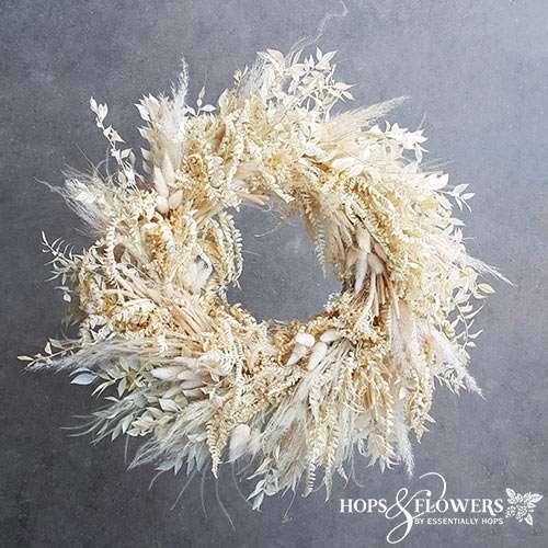 bleach white flowers wreath