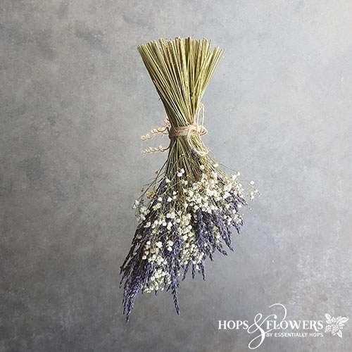 lavender gypsophila pew end